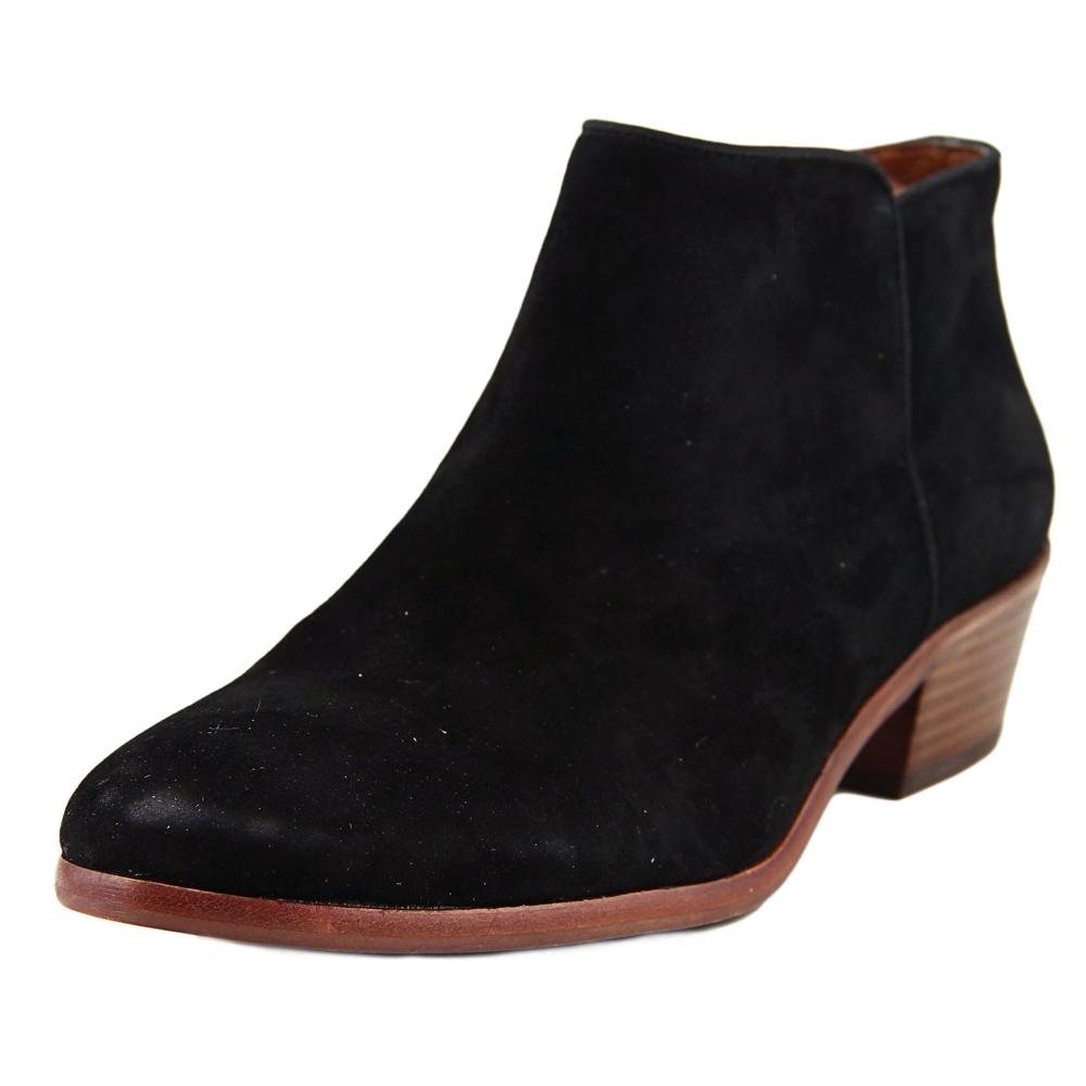 Sam Edelman Petty Women  Round Toe Suede Black Ankle Boot
