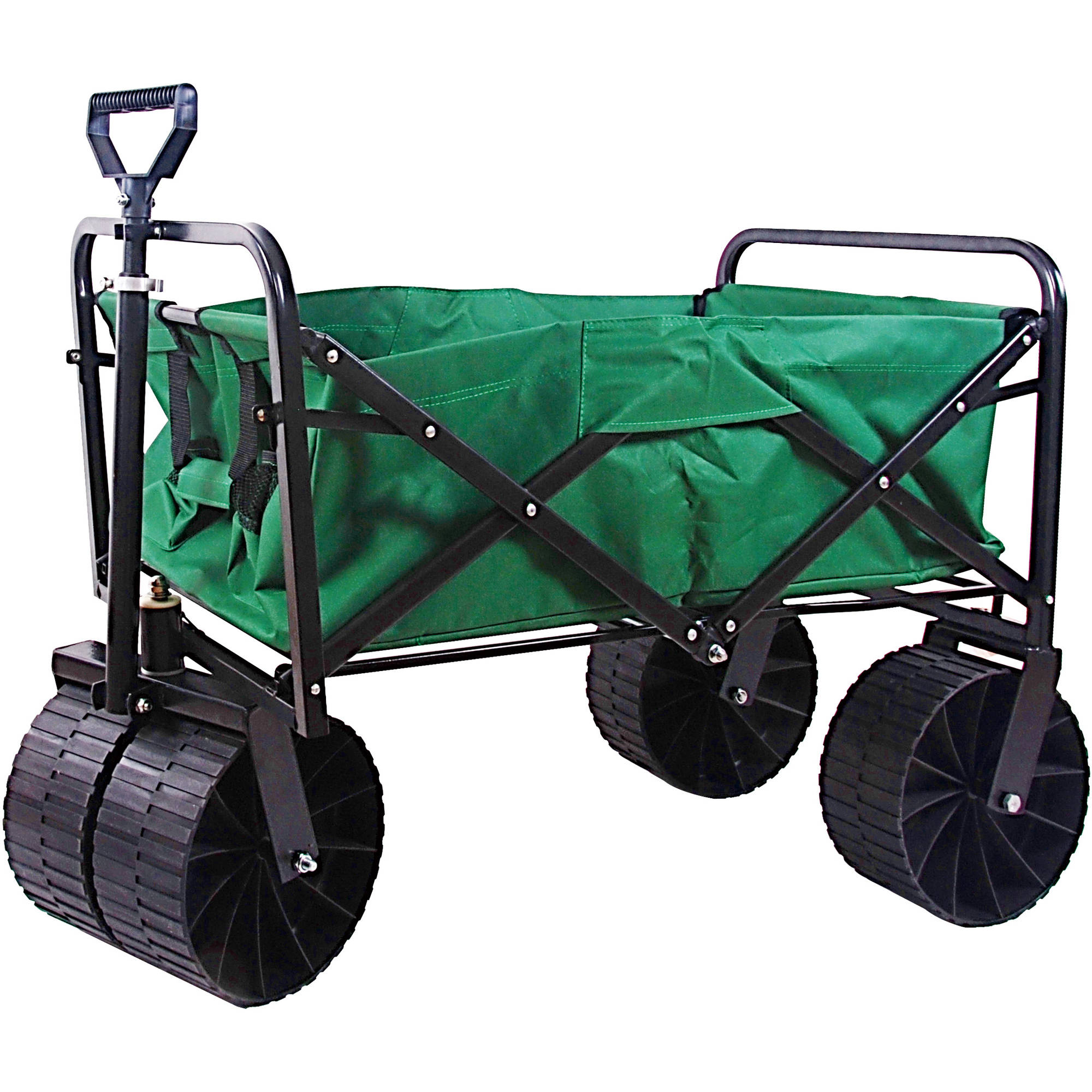 Sandusky Light-Duty Folding Wagon with Solid Steel Frame Blue, FBW3622