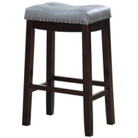 "Angel Line Cambridge 29"" Padded Saddle Stool-Espresso w/ Gray Cushion"