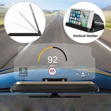 2 in 1 Universal HUD Head Up Display GPS Navigation Projection Car Bracket Vehicle Phone Holder Mount Stand