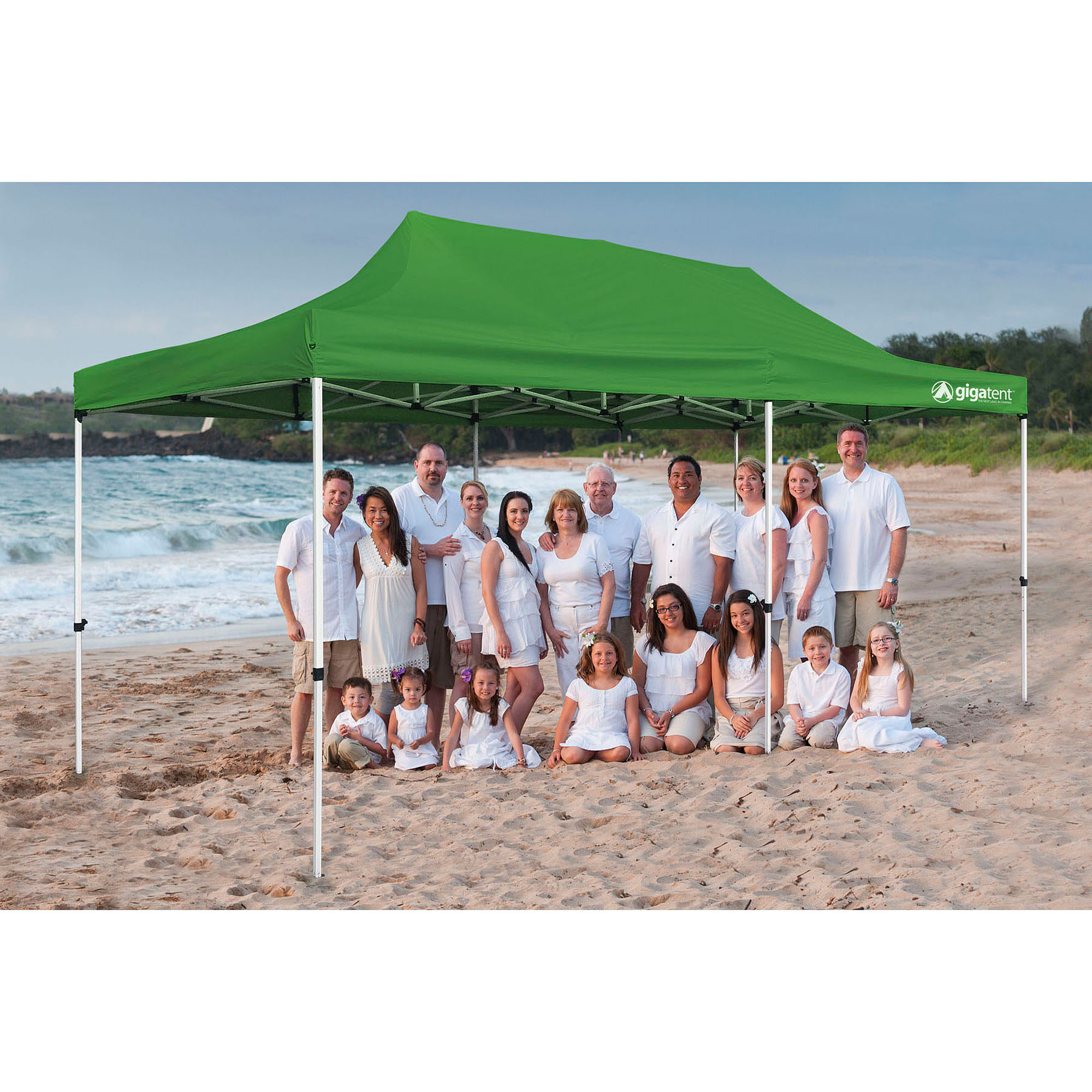 GigaTent The Party Tent 10' x 20' Canopy, Green