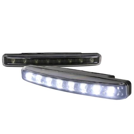 Spec-D Tuning LF-108LEDJM-WT 8 Pieces White LED Day Time Running Light with Black Trim for All, 10 x 10 x 12 in. - image 1 of 1