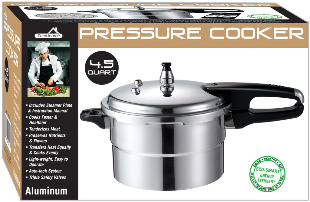 4.5 Qt Pressure Cooker ( UL Listed ) Case Pack 6 by DDI