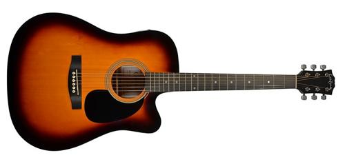 Carlo Robelli F-600CE BS Dreadnought Cutaway Acoustic-Electric Guitar by