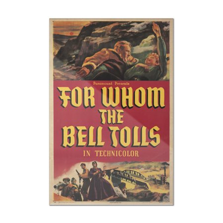 For Whom The Bell Tolls Vintage Poster Usa C  1943  8X12 Acrylic Wall Art Gallery Quality