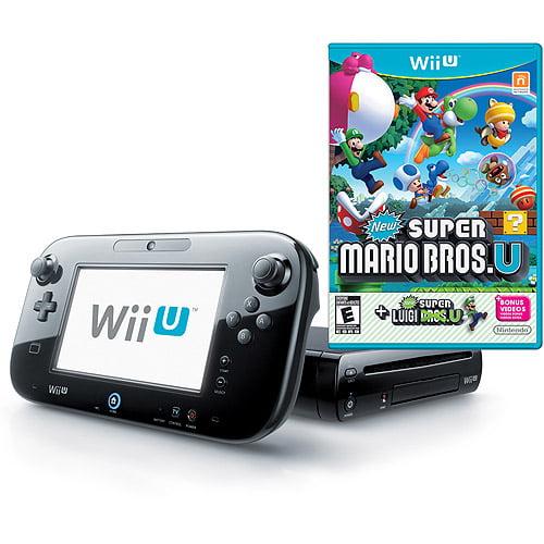 Nintendo Wii U Deluxe Console Set Black With New Super Mario Bros