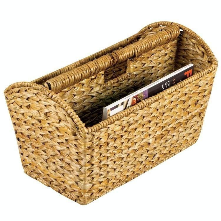 Household Essentials ML-6017 Banana Leaf Wicker Magazine Rack