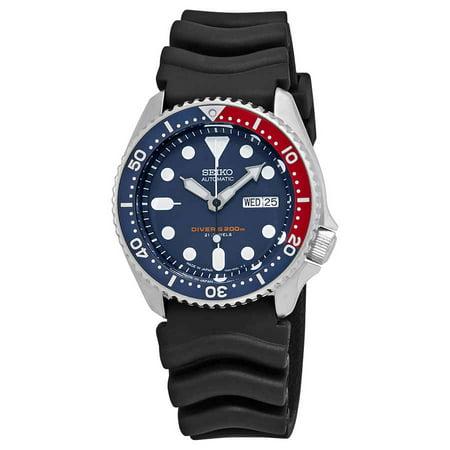 Divers Automatic Blue Dial Men's Watch - Seiko Rubber Wrist Watch