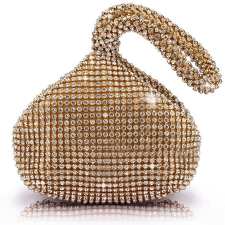 Evening Hobo (TOPCHANCES Women Ladies' Triangle Bling Glitter Purse For Girls Crown Box Clutch Evening Luxury Bags for Party Prom )