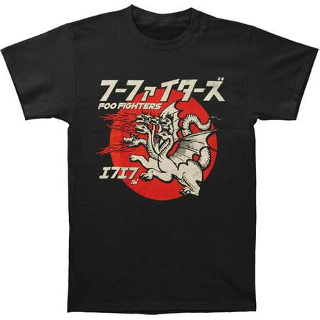 Foo Fighters Men's  Many Dragons Mens Soft T Slim Fit T-shirt