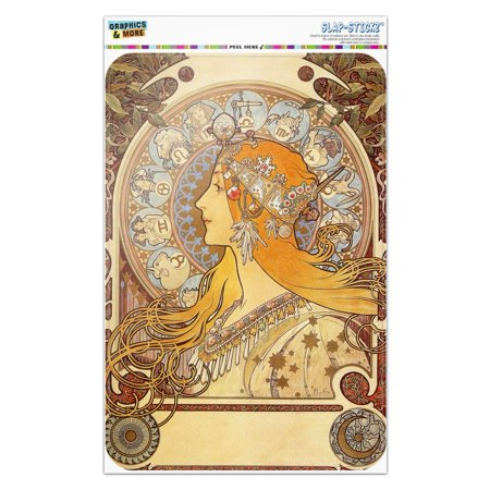 Zodiac Alphonse Mucha Art Nouveau Home Business Office Sign - Window Sticker - 6
