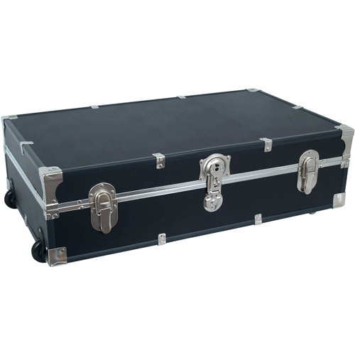 Seward Trunk Under Bed 31-Inch Footlocker Trunk with Wheels