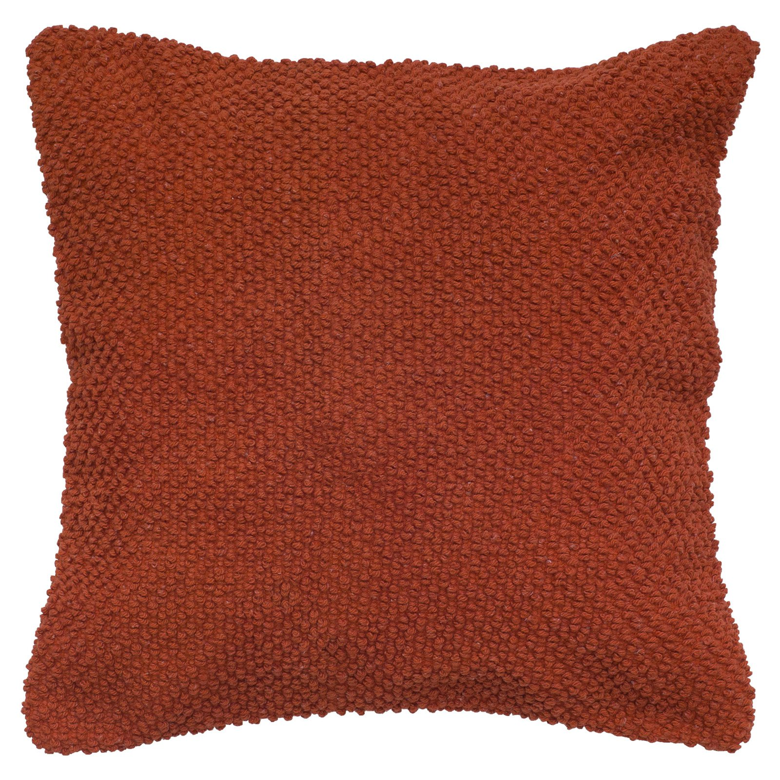 "Rizzy Home Decorative Poly Filled Throw Pillow Solid 20""X20"" Orange"