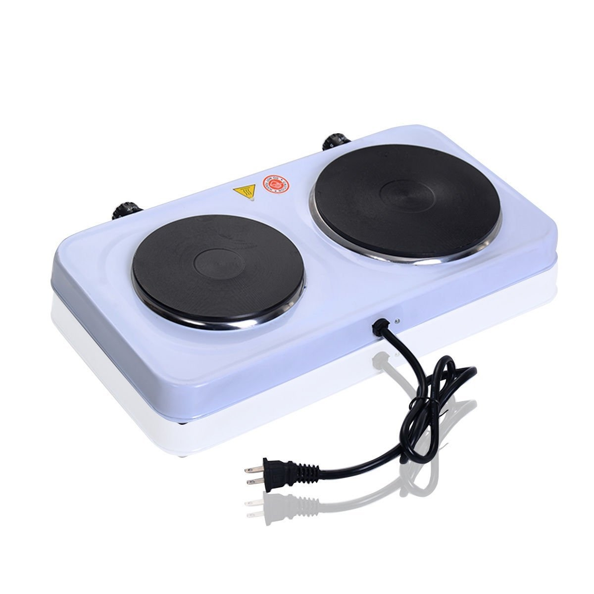 Electric double burner cooking indicator heater hot plate...