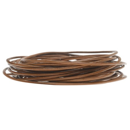Genuine Leather Cord, Round 1.5mm,  By the Yard, Light Brown Genuine Round Leather Cord
