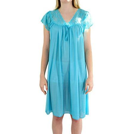 Ezi Women's 'Debra' Cap Sleeve Satin Nightgown, Light Pink, XXL - Royal Blue Cap And Gown