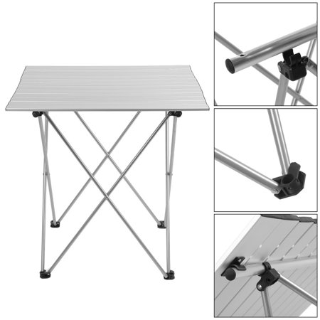 CM Aluminum Folding Roll Up Table Wtype Brackets Camping - Metal picnic table brackets
