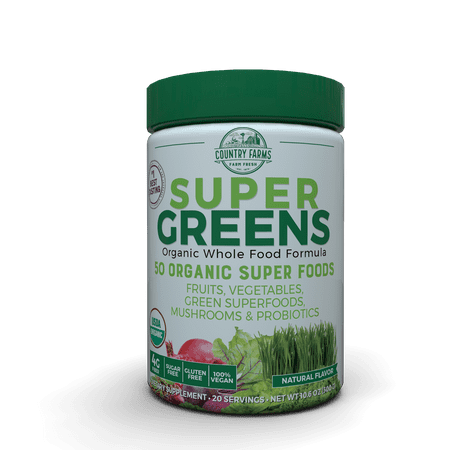 Super Greens Powder, 9.9 Oz, 20 Servings (Packaging May Vary) (Vegetable Powder Supplement)