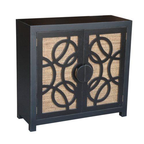 Sumba 2 Door TV Stand with Wicker Back Panel