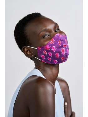 iMPOWER by Prabal Gurung Reversible Face Mask, Purple Red Floral Print