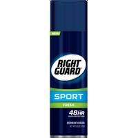 Right Guard Sport Antiperspirant Deodorant Aerosol, Fresh, 6 Ounce