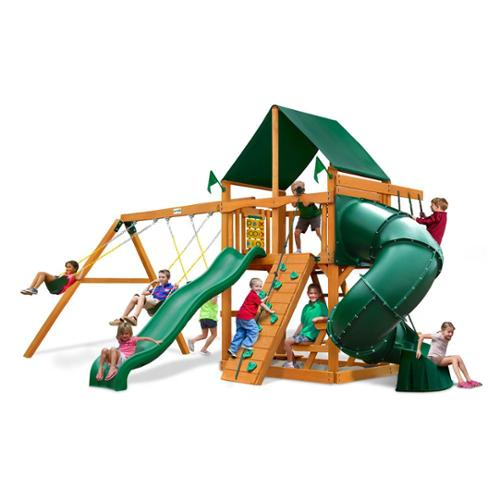 Mountaineer Swing Set with Amber Finish