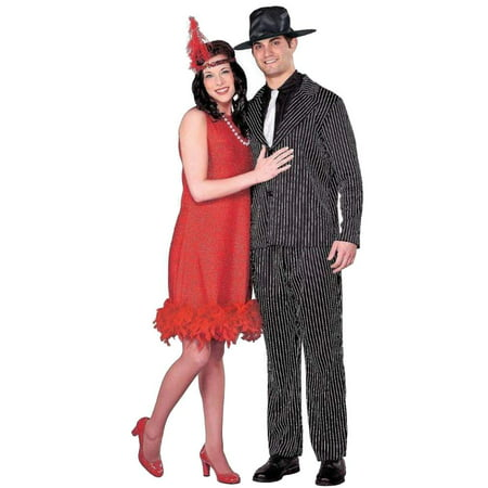 Womens 1920's Flapper Halloween Costume Headpiece, Necklace & Dress Small - 1920 Costumes