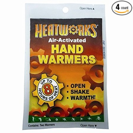 New Air Activated Cold Weather Hand Glove Warmers 4 Pack  8 Hours Heat  4 Pairs  8 Warmers  By Heatworks