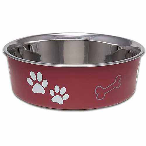 Loving Pets Bella Small Bowl, Merlot