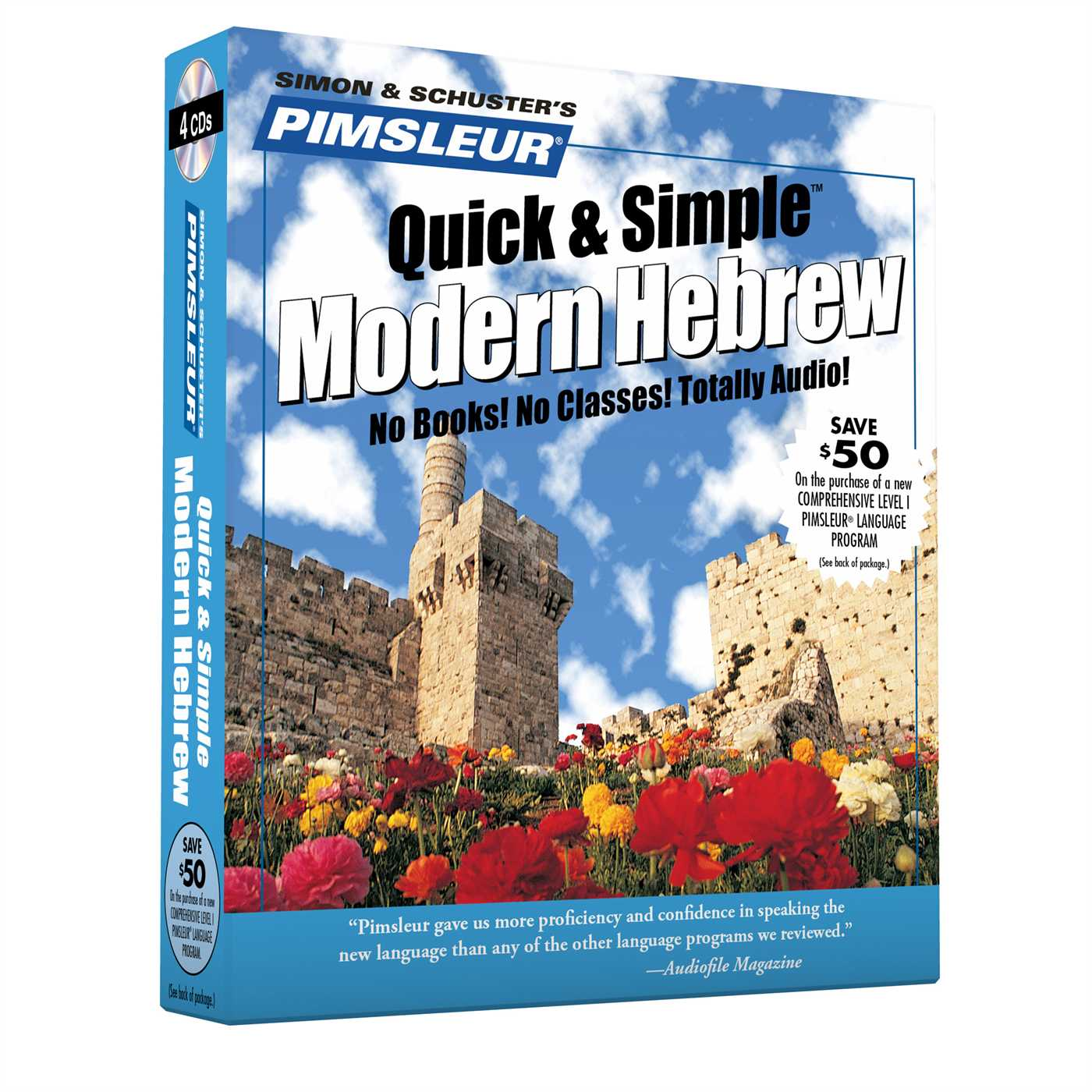 Pimsleur Hebrew Quick & Simple Course - Level 1 Lessons 1-8 CD : Learn to Speak and Understand Hebrew with Pimsleur Language Programs