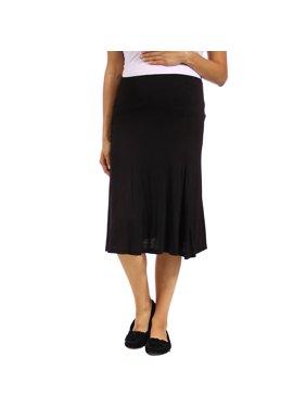 Women's Maternity Calf-Length Skirt