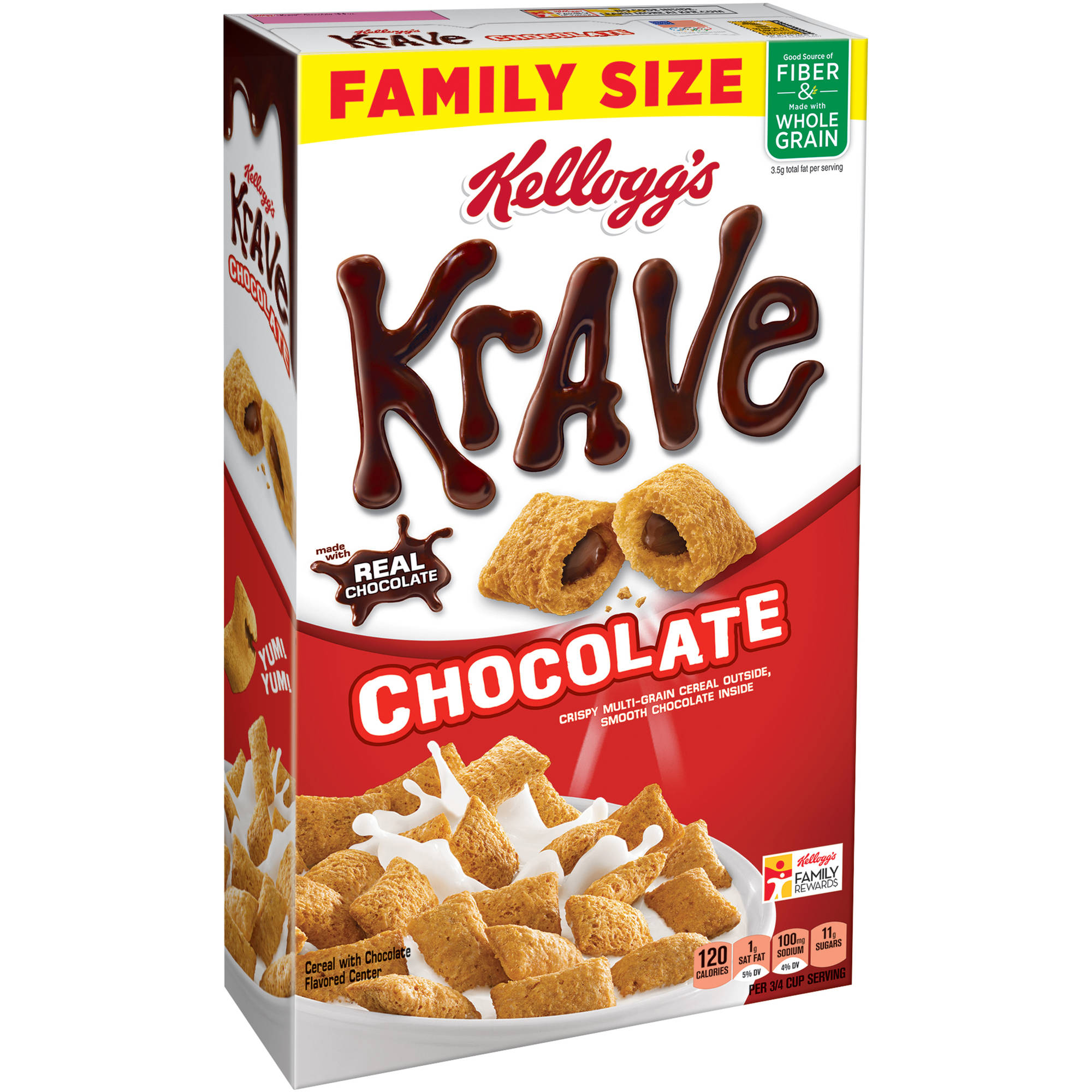 Kellogg's Krave Chocolate Cereal Family Size, 19.9 oz
