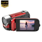 Mignova Camera ,Camcorder Digital Video YouTube Vlogging Camera Recorder Full HD 1080P 2.7 Inch 270 Degree Rotation LCD 16X Digital Zoom Camcorder with A Batteries(Red)