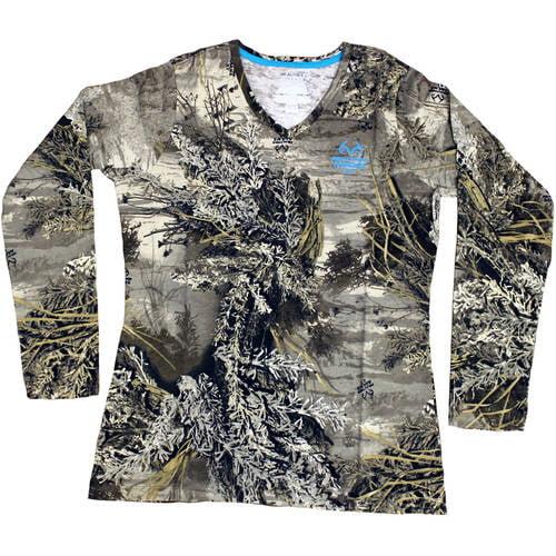 Women's Long Sleeve Camo Tshirt, Max 1XT by Generic