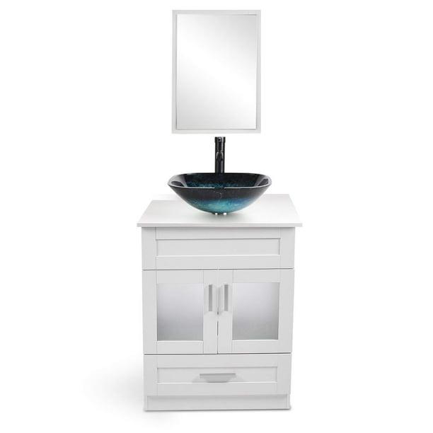Bathroom Vanity 24 Inch With Sink Wall, 18 Inch Bathroom Vanity With Vessel Sink