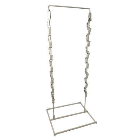 28 Clip Strip Counter Top Wire Display Stand, 2 Strand Potato Chip Snack Rack - Almond