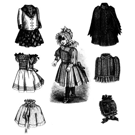 Sewing Pattern: 1891 Victorian Doll Wardrobe