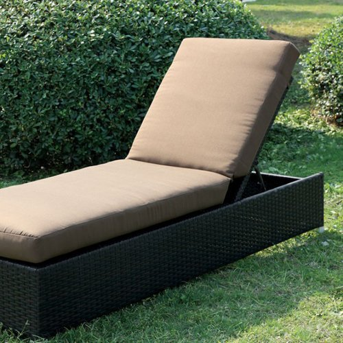 Latitude Run Bendoski Contemporary Patio Chaise Lounge with Cushion
