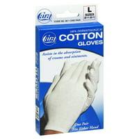 CARA 100% Dermatological Cotton Gloves, Large