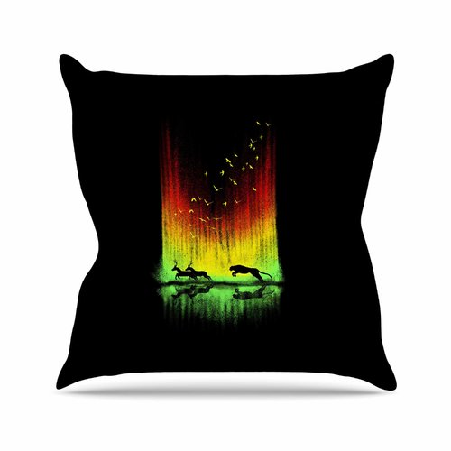 East Urban Home BarmalisiRTB Give Chase Digital Outdoor Throw Pillow