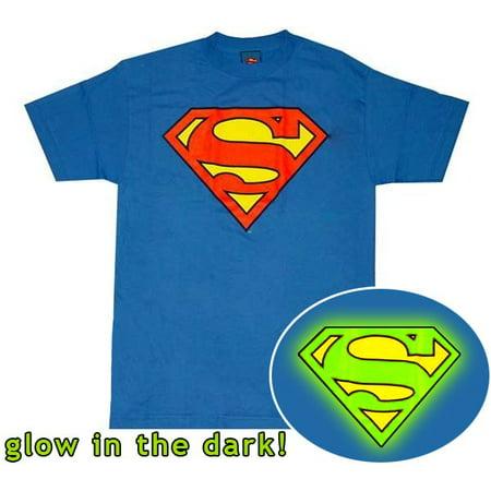 Superman T Shirts (Superman Glow Logo T-Shirt)
