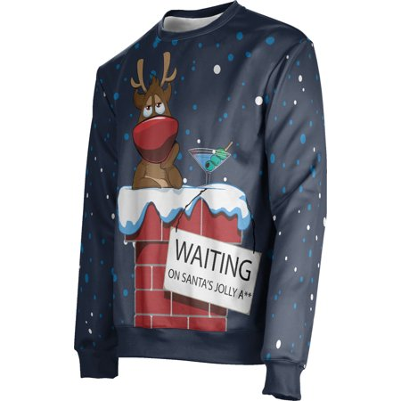 ProSphere Men's Yuletide Ugly Holiday Waiting on Santa Sweater (Apparel)](Santa Clothes)