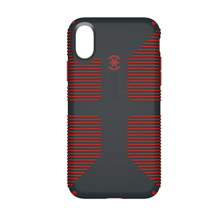 pretty nice b8884 58484 Speck CandyShell Grip Case for iPhone X, Gray/Red