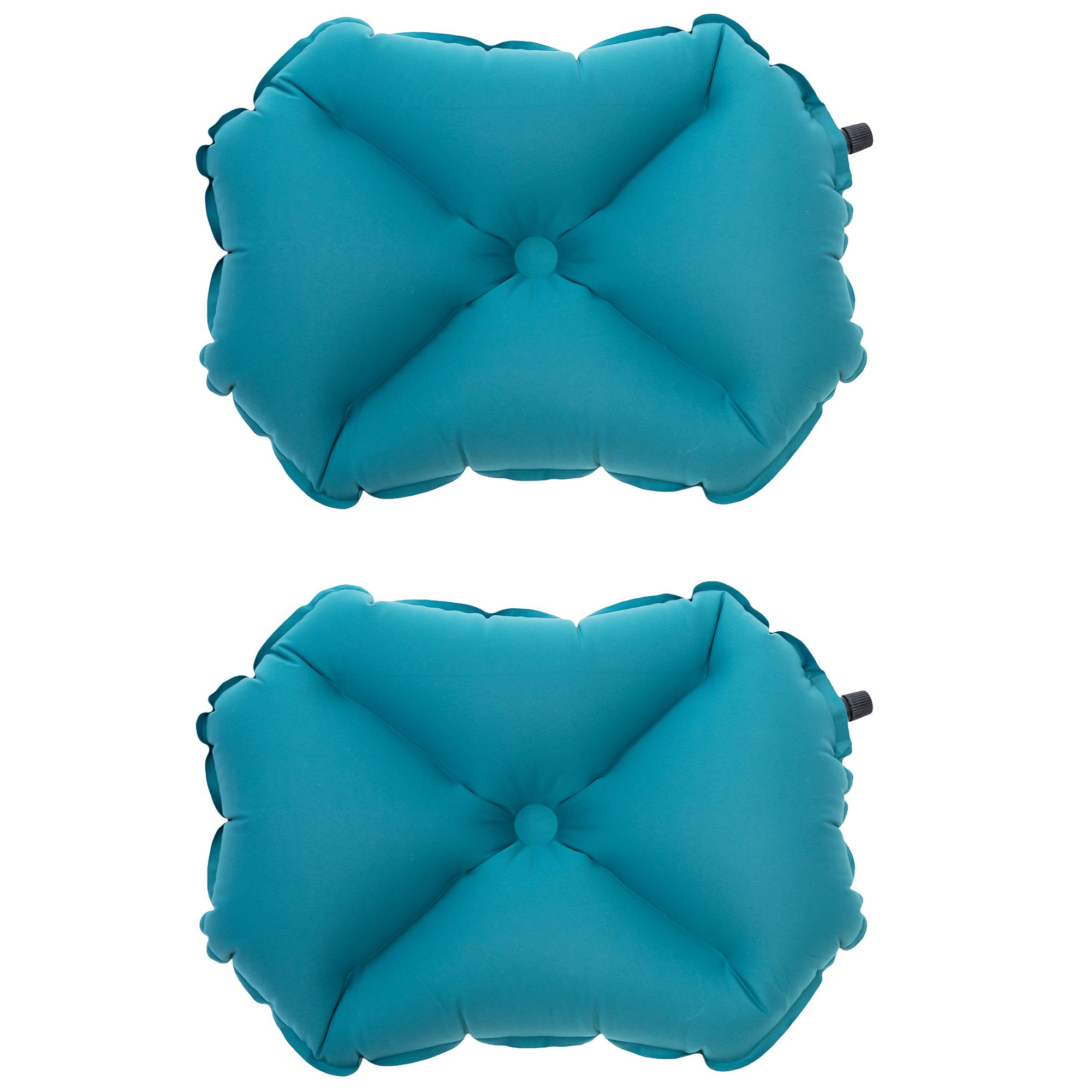 Klymit Pillow XL Soft Inflatable Outdoor Travel Camping Pillow, Teal (2 Pack)