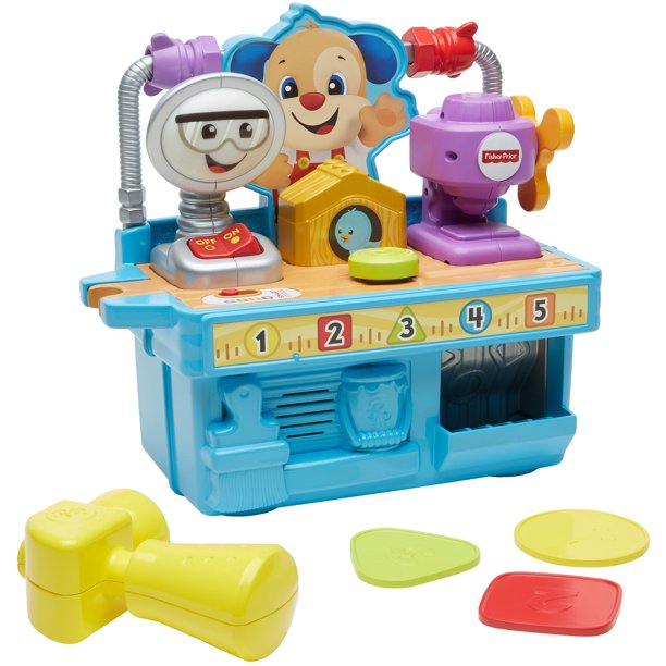 Fisher-Price Busy Learning Tool Bench with Accessories