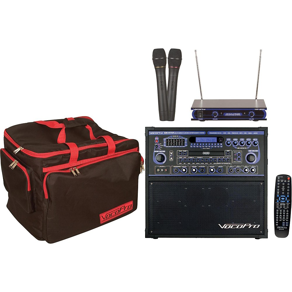 VocoPro GIG STAR Karaoke Machine Package by VocoPro
