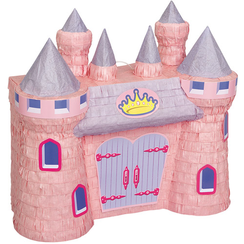 Princess Castle Pinata, 16.75 x 16.5 in, Pink, 1ct