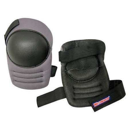 Westward 5MZH5 One Size Fits All Black/Gray Knee Pads ()