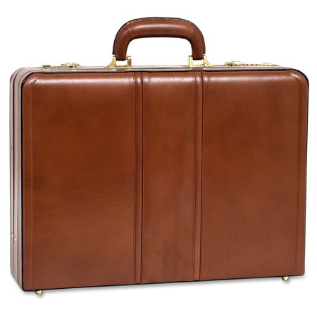 McKlein USA Coughlin Leather Expandable Attache Case - (Leather Attache)