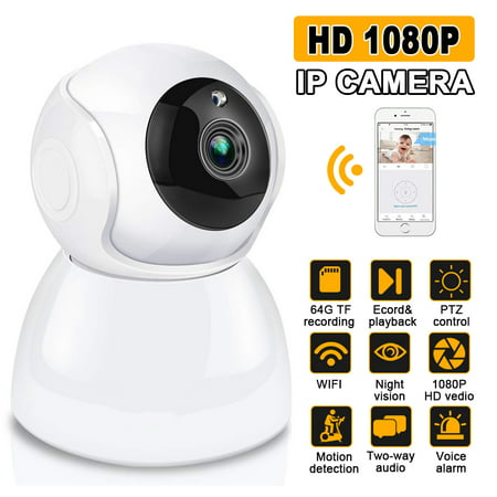 DIGOO 1080P Wireless Security Camera Home Smart WiFi Audio CCTV Camera, Night vision,Two-way audio,APP Remote Wireless Surveillance ()